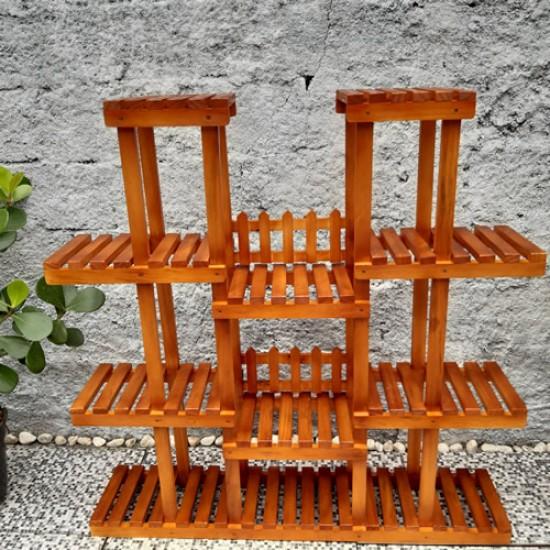 Floreira de chão para vasos e plantas feito madeira 07