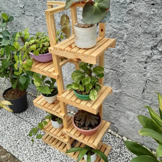 Floreira de chão, Suporte para vasos de plantas em madeira 13
