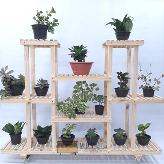 Estante para Plantas feito em madeira  modelo 90
