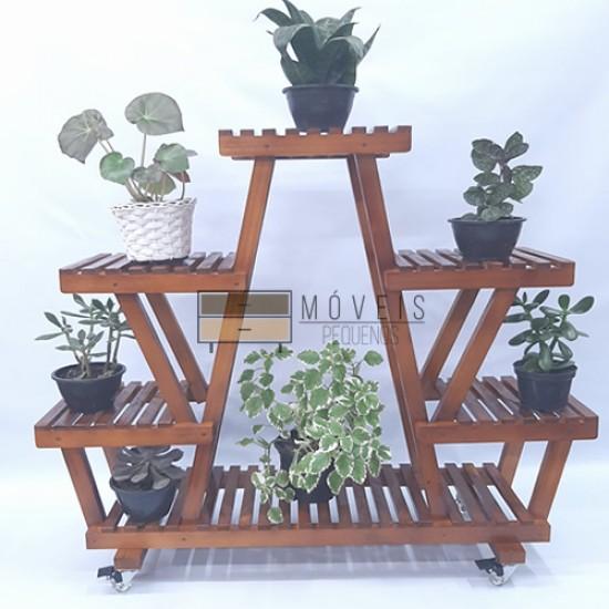 Estante para Plantas modelo 06 cor Imbuia