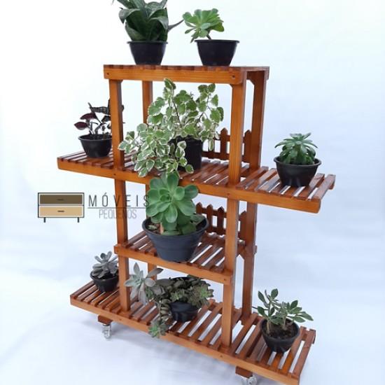 Estante para plantas feito em madeira modelo 34