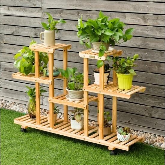 Suporte para vasos de plantas madeira modelo 47