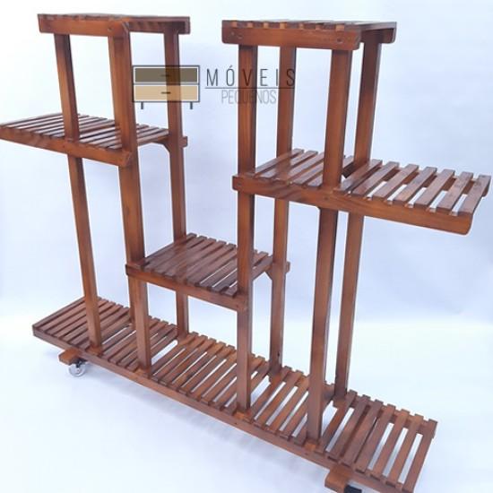 Suporte para vasos de plantas madeira modelo 48