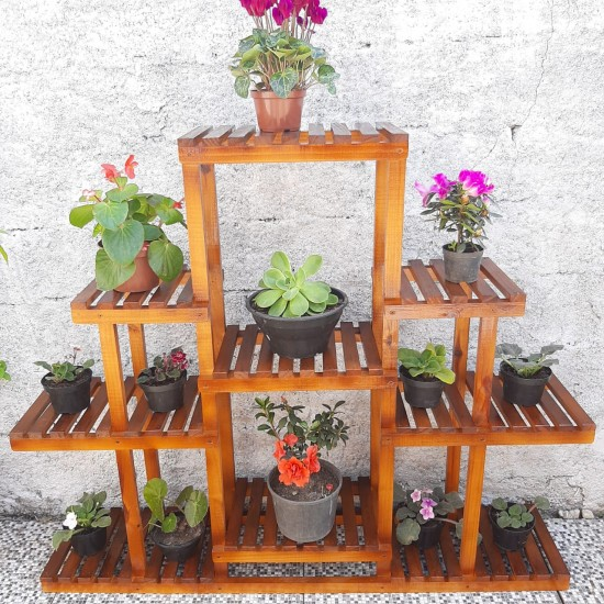 Floreira de chão  para vasos de plantas madeira modelo 52