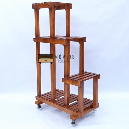 Estante para plantas  feito em madeira Modelo 89