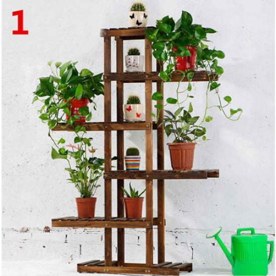 Suporte para vasos de plantas em madeira 08