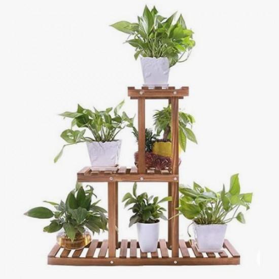 Suporte para vasos de plantas em madeira 12