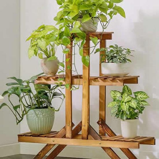 Floreira de chão para  Plantas feito Madeira modelo 16