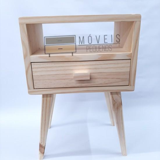 Mesa de Cabeceira Retrô madeira