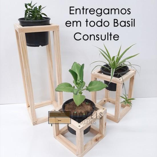 Suporte quadrado para vasos de plantas