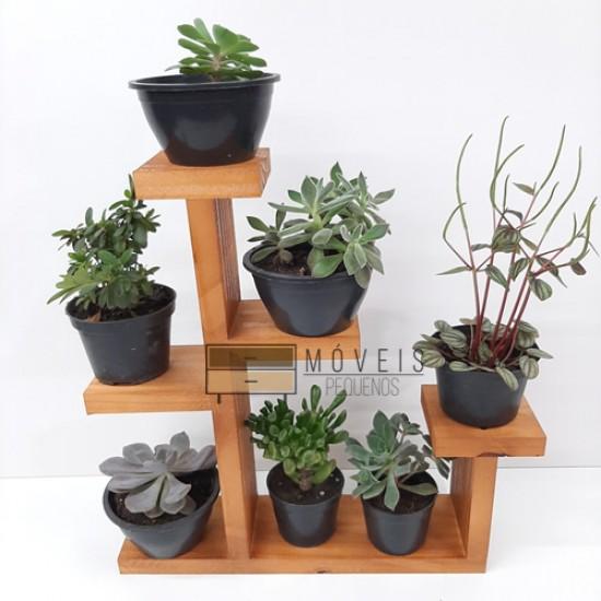 Prateleira para suculentas, flores e plantas 04
